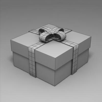 gift box 02 3d model 3ds max fbx obj 103580