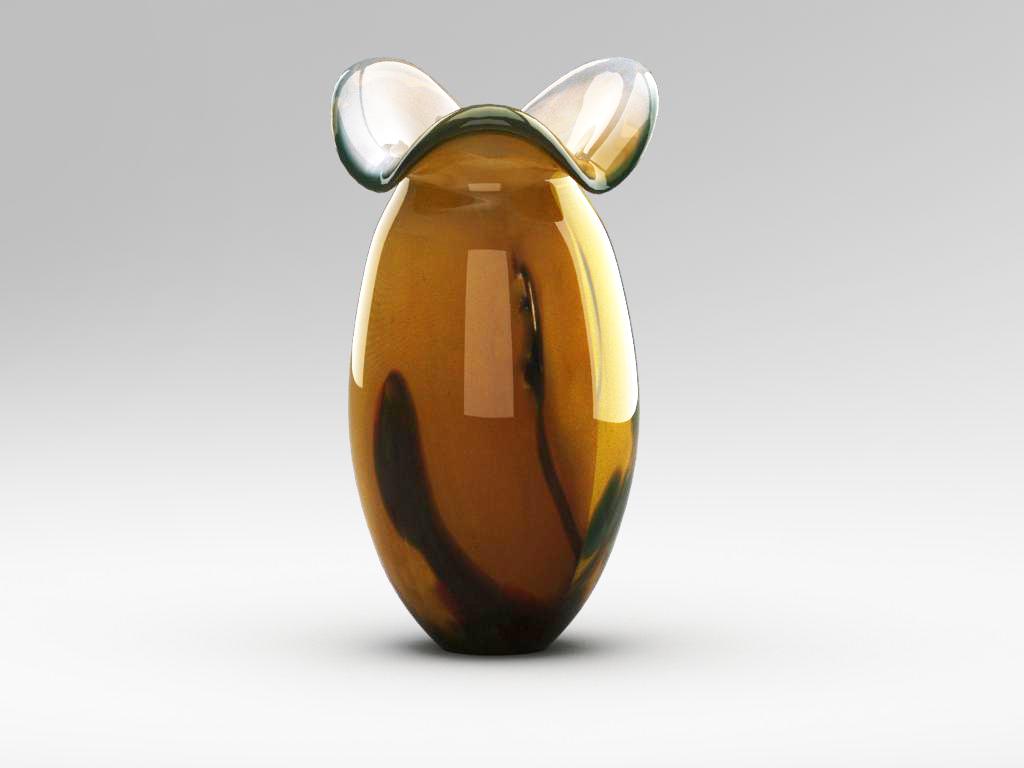 stikla dekoratīvā vāze 02 3d modelis max 147587