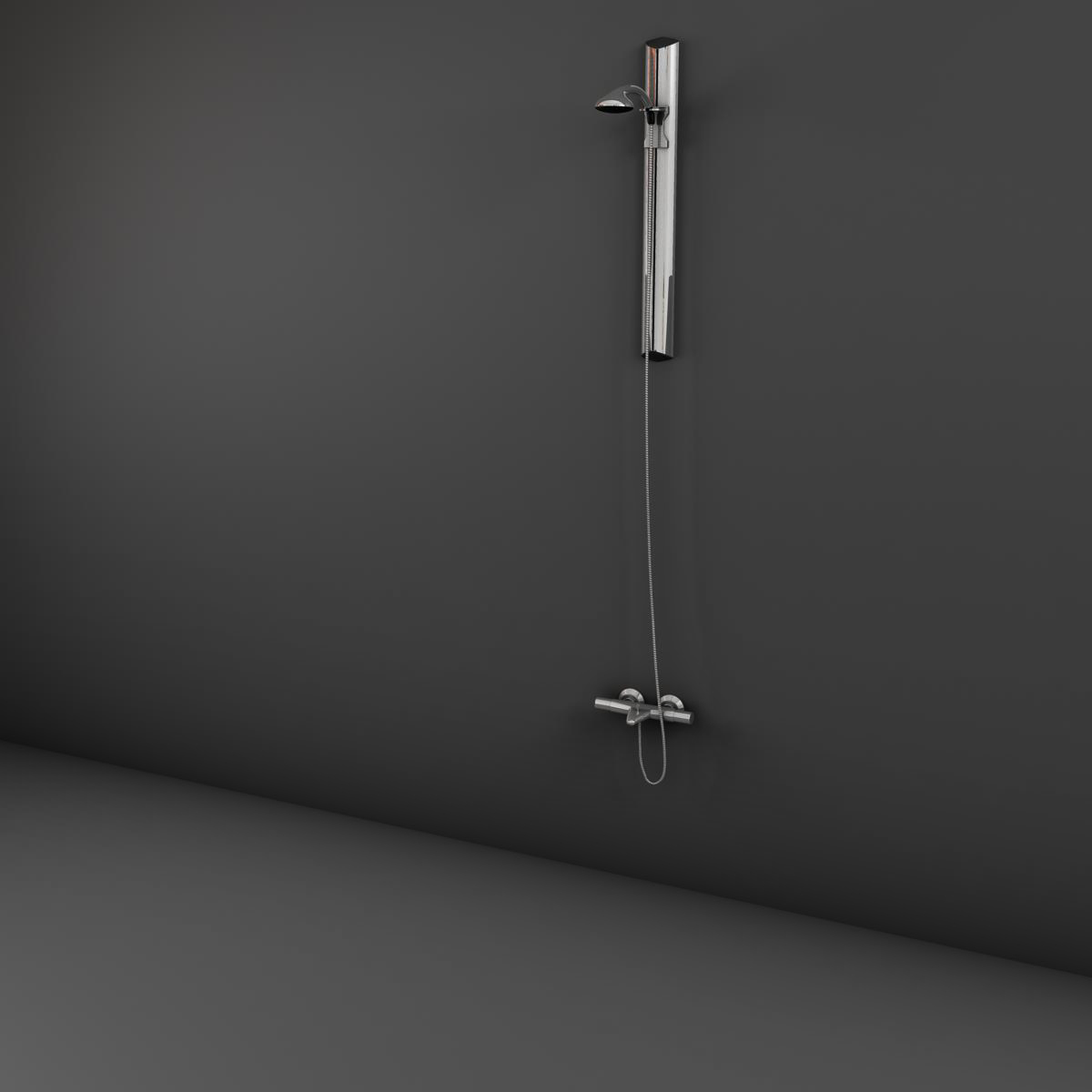 handle shower 3d model 3ds max fbx ma mb obj 158308