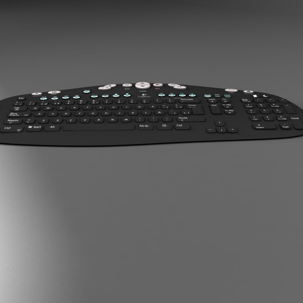 keyboard black 3d model 3ds max fbx ma mb obj 155934