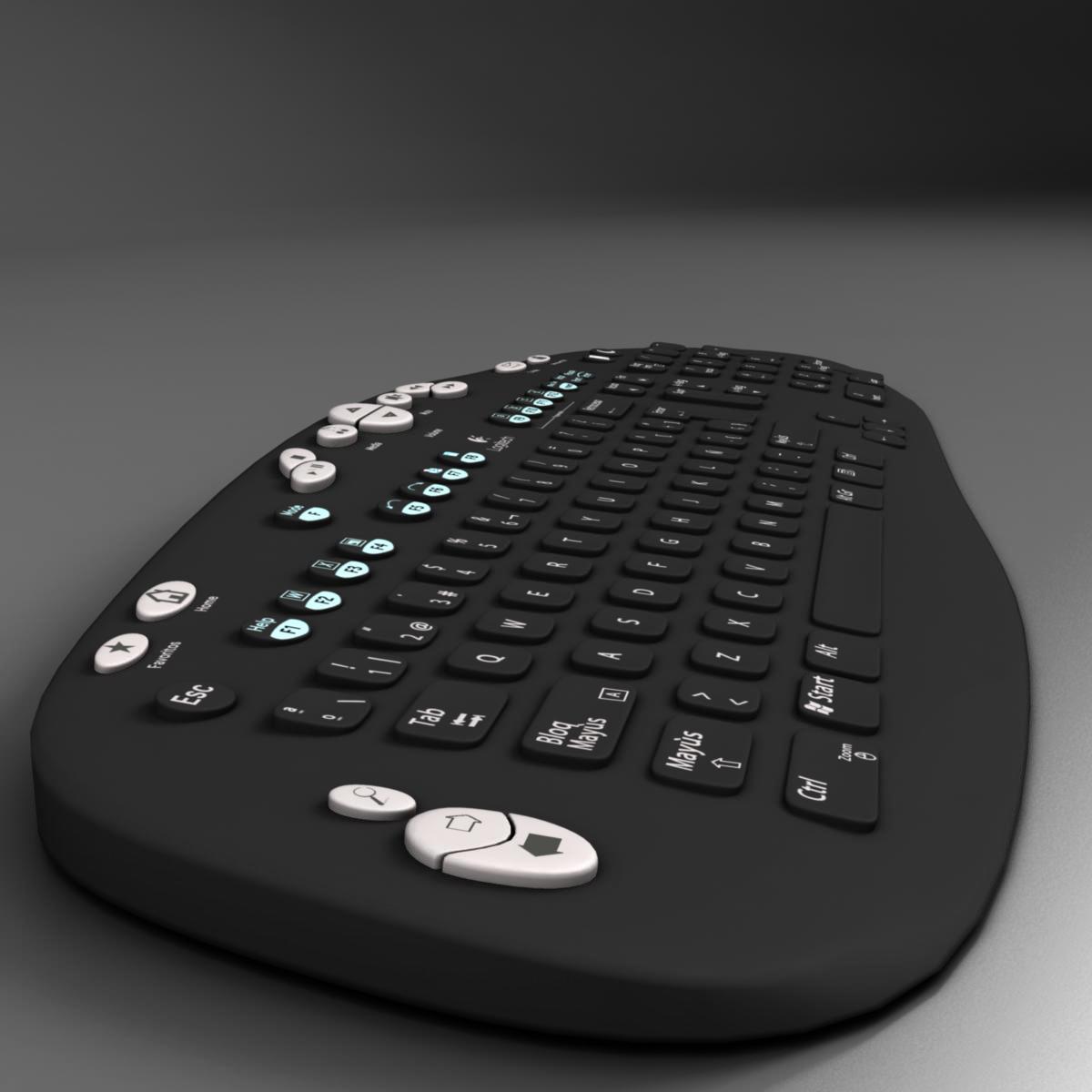 keyboard black 3d model 3ds max fbx ma mb obj 155936