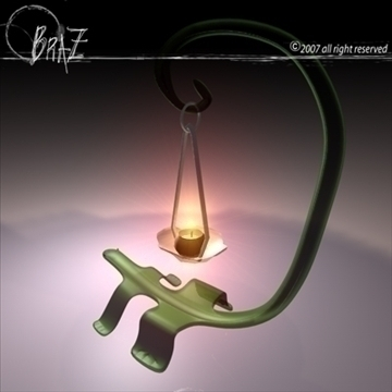 lizard candle 3d model 3ds dxf c4d obj 85141