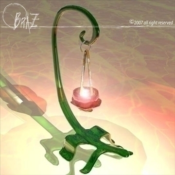 lizard candle 3d model 3ds dxf c4d obj 85143