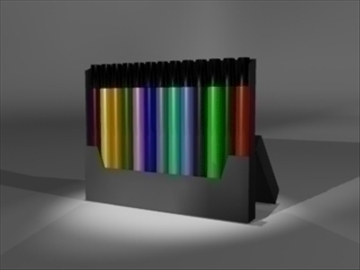 markers in box 3d model 3ds dxf lwo 81114