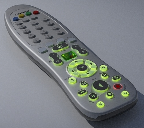 media center remote control 3d model 3ds fbx skp obj 113479