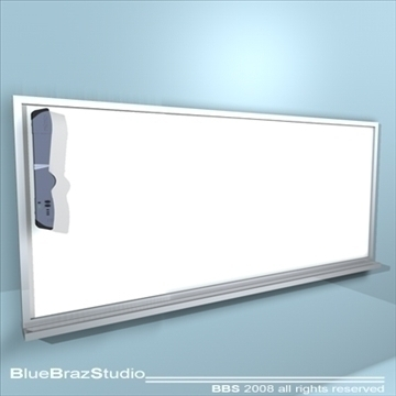 mimio whiteboard 3d model 3ds dxf c4d obj 93185