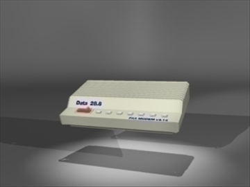 modem 1 3d model 3ds dxf lwo 81117