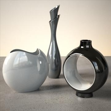 modern vase set 3d model 3ds max dwg fbx lwo ma mb hrc xsi obj 102471