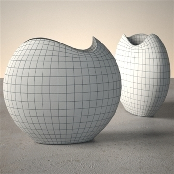 modern vase set 3d model 3ds max dwg fbx lwo ma mb hrc xsi obj 102477