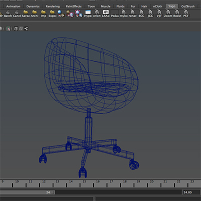 office chair – model #6 3d model 3ds max fbx ma mb obj 157085