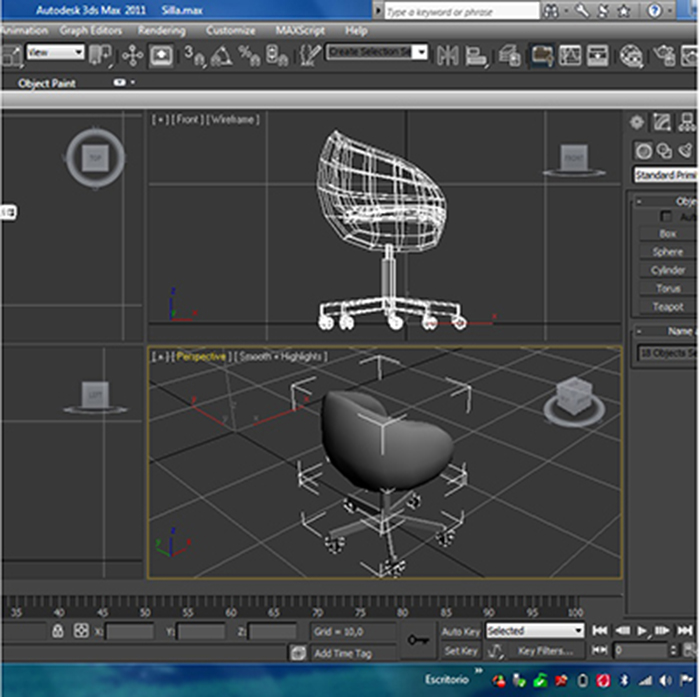 office chair – model #6 3d model 3ds max fbx ma mb obj 157086