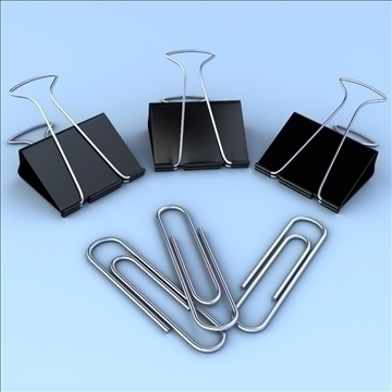 paper and binder clip 3d model 3ds max fbx lwo hrc xsi obj 106329
