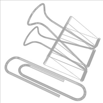paper and binder clip 3d model 3ds max fbx lwo hrc xsi obj 106331