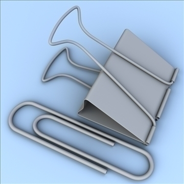 paper and binder clips 3d model 3ds max lwo hrc xsi obj 103412