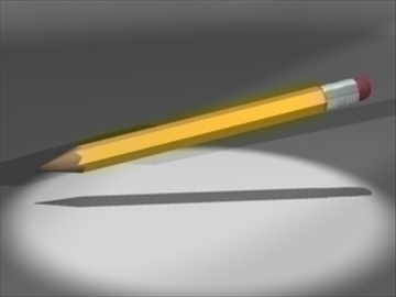 pencil 3d model 3ds dxf lwo 81126