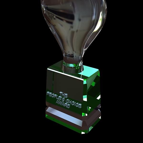 peoples choice award trophy 3d model 3ds max fbx obj 124121