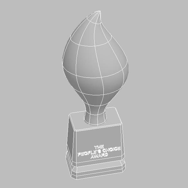 peoples choice award trophy 3d model 3ds max fbx obj 124122
