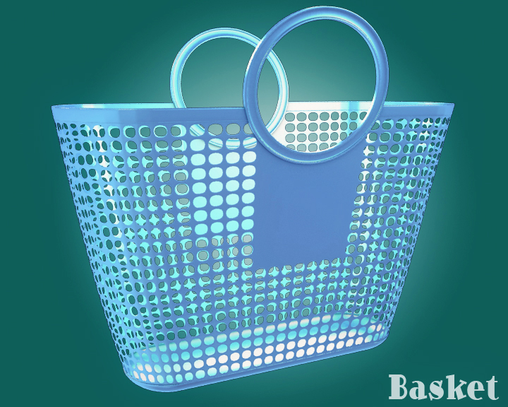 plastic basket 3d model 3ds max dxf obj 116753