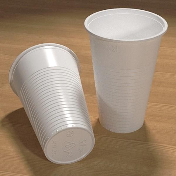 plastična čaša 3d model 3ds fbx skp obj 115051