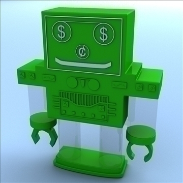 robot bank 3d model 3ds max fbx lwo hrc xsi obj 106275