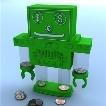 robot bank 3d model 3ds max fbx lwo hrc xsi obj 106277