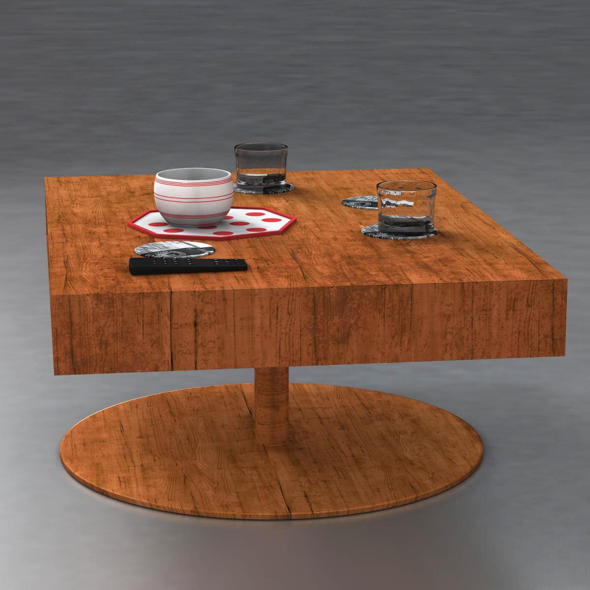 room table 3d model 3ds max fbx c4d ma mb obj 162726
