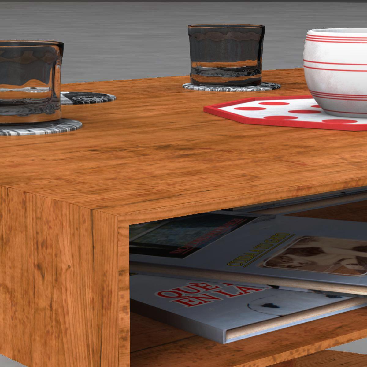 room table 3d model 3ds max fbx c4d ma mb obj 162728