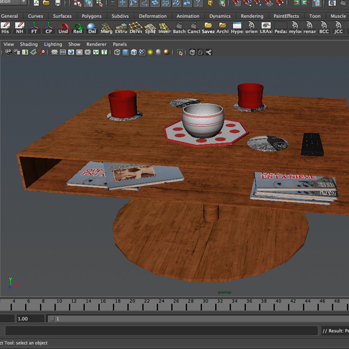 room table 3d model 3ds max fbx c4d ma mb obj 162734
