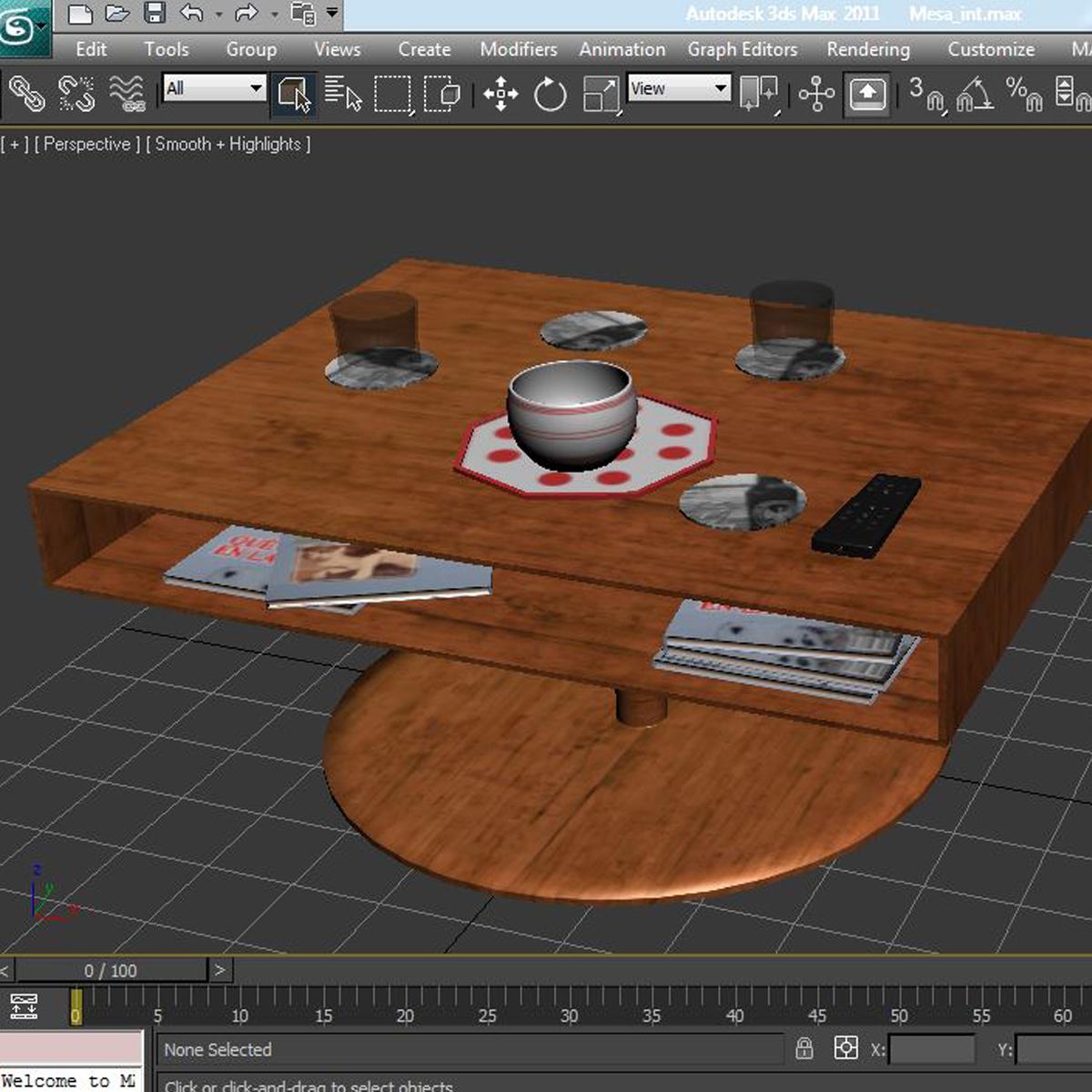 room table 3d model 3ds max fbx c4d ma mb obj 162736