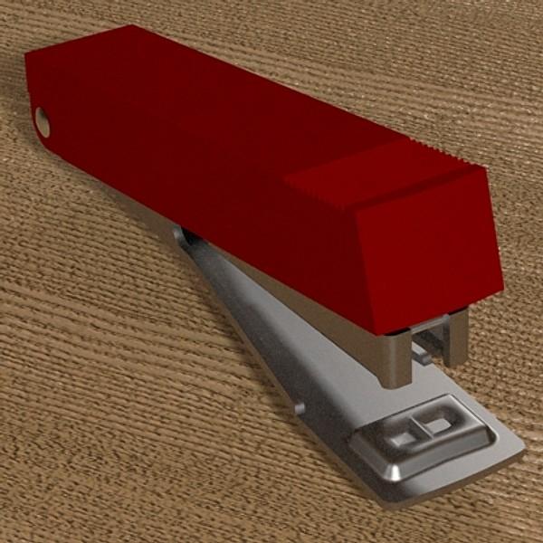 stapler 03 3d model 3ds fbx skp obj 115533