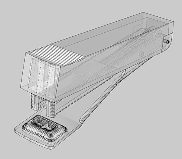 stapler 03 3d model 3ds fbx skp obj 115535