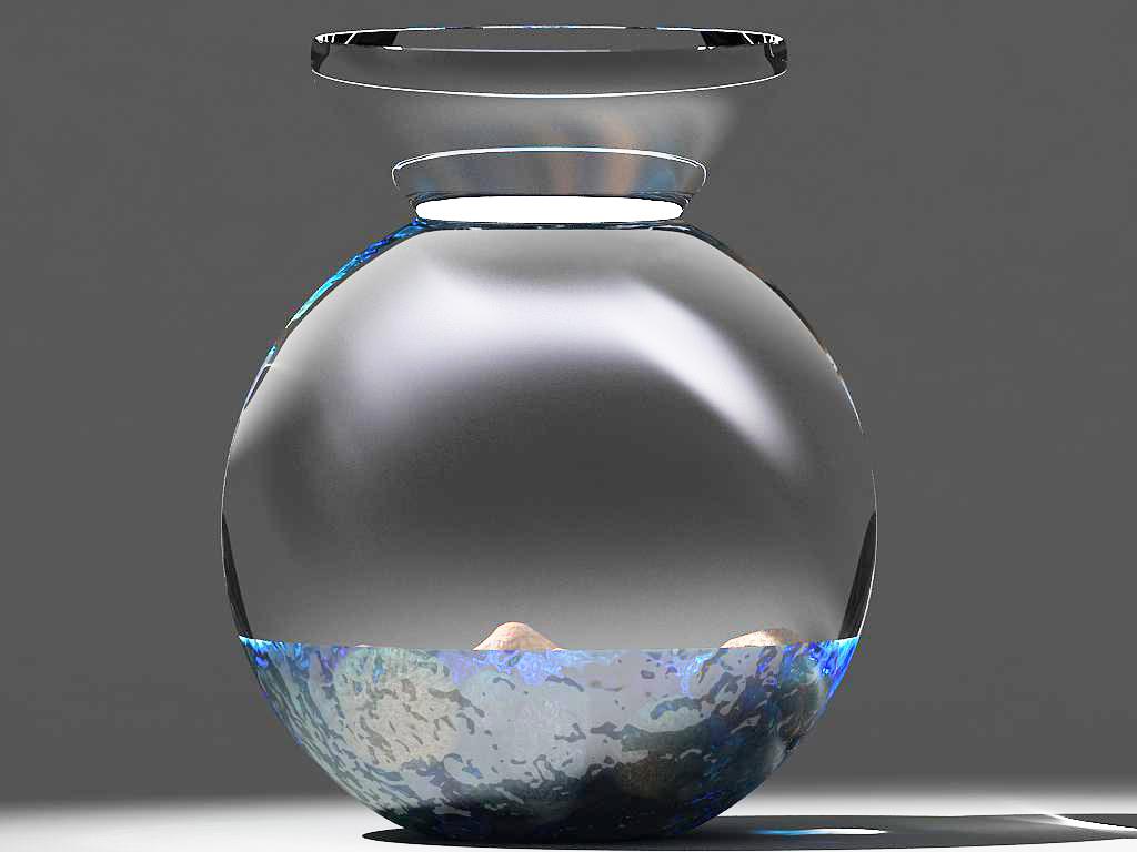 stones in glass vase 3d model max 147592