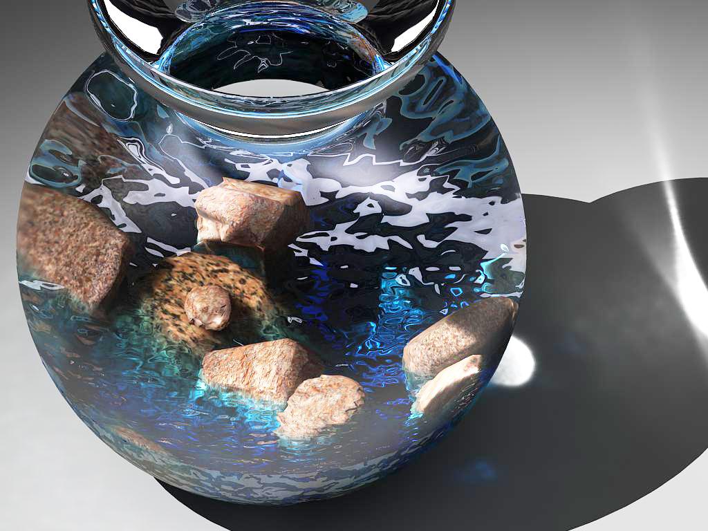 stones in glass vase 3d model max 147593