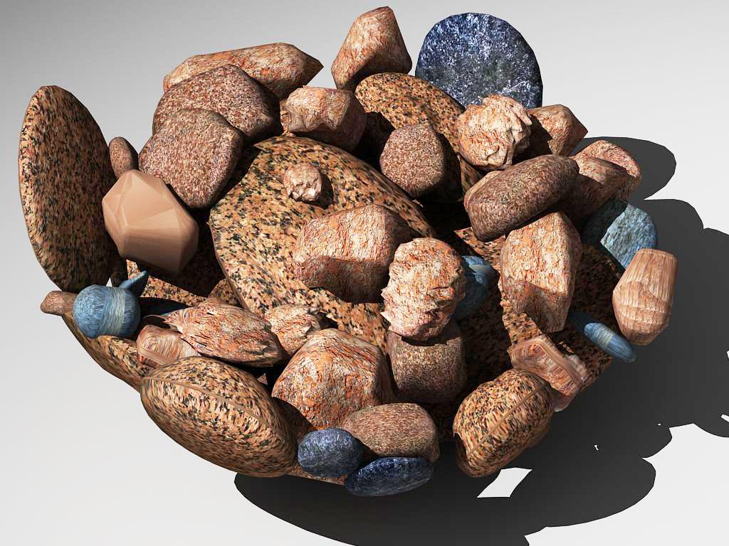 stones in glass vase 3d model max 147594