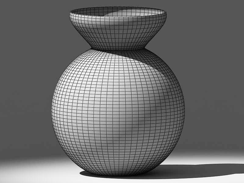 stones in glass vase 3d model max 147595