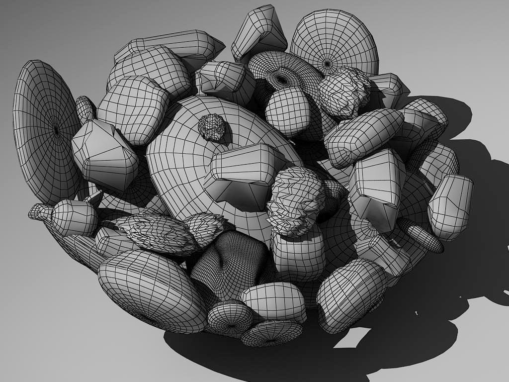 stones in glass vase 3d model max 147596