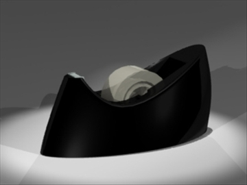 tape dispenser 3d model 3ds dxf lwo 81138