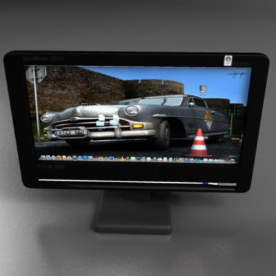 tft monitor 3d model 3ds max fbx ma mb obj 155828