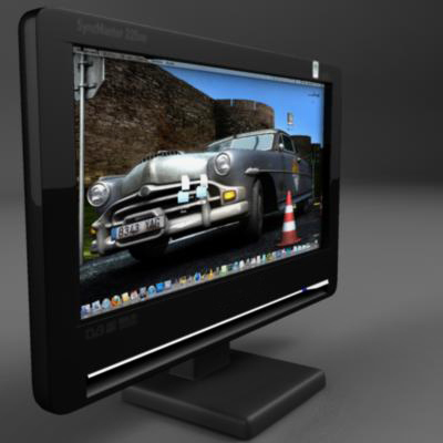 tft computer monitor 3d model 3ds max fbx ma mb obj 155829
