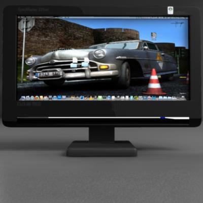 tft computer monitor 3d model 3ds max fbx ma mb obj 155830