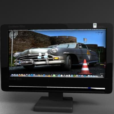 tft computer monitor 3d model 3ds max fbx ma mb obj 155831