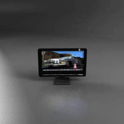 tft computer monitor 3d model 3ds max fbx ma mb obj 155832