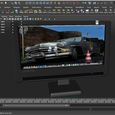 tft computer monitor 3d model 3ds max fbx ma mb obj 155833