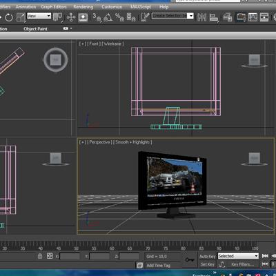tft computer monitor 3d model 3ds max fbx ma mb obj 155834