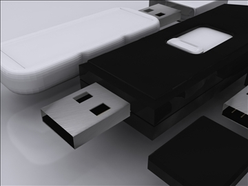 usb flash drive collection 3d model 3ds max fbx obj 92828
