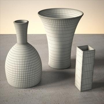 vase set 1 3d model 3ds max dwg fbx lwo ma mb hrc xsi obj 102440