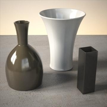 vase set 1 3d model 3ds max dwg fbx lwo ma mb hrc xsi obj 102444