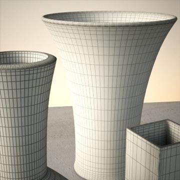 vase set 1 3d model 3ds max dwg fbx lwo ma mb hrc xsi obj 102446