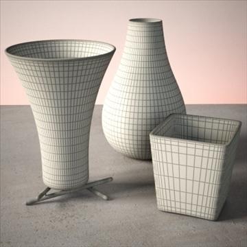 vase set 2 3d model 3ds max dwg fbx lwo ma mb hrc xsi obj 102448