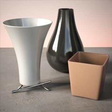 vase set 2 3d model 3ds max dwg fbx lwo ma mb hrc xsi obj 102452